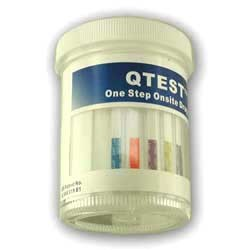 QTEST One-Step Drug Screen Cup for 5 Drugs